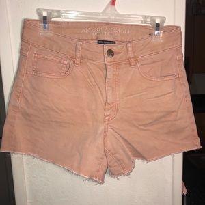 Light Pink Denim AE Shorts